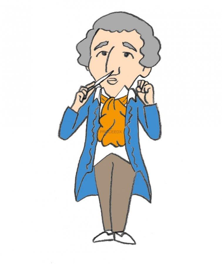 偉人イラスト アマデウスモーツァルト 学校塾教材教具用品の総合