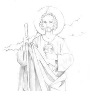 Imagen De San Judas Tadeo Para Colorear