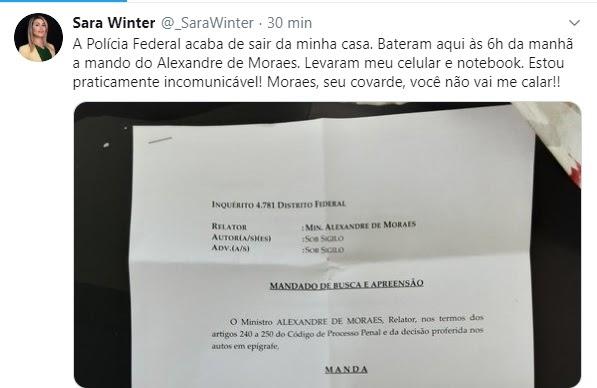 Militante bolsonarista chama Alexandre de Moraes de covarde e diz que ela não cala