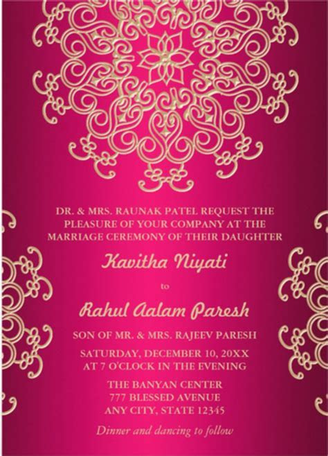 Indian Wedding Card Templates Free Download   Joy Studio