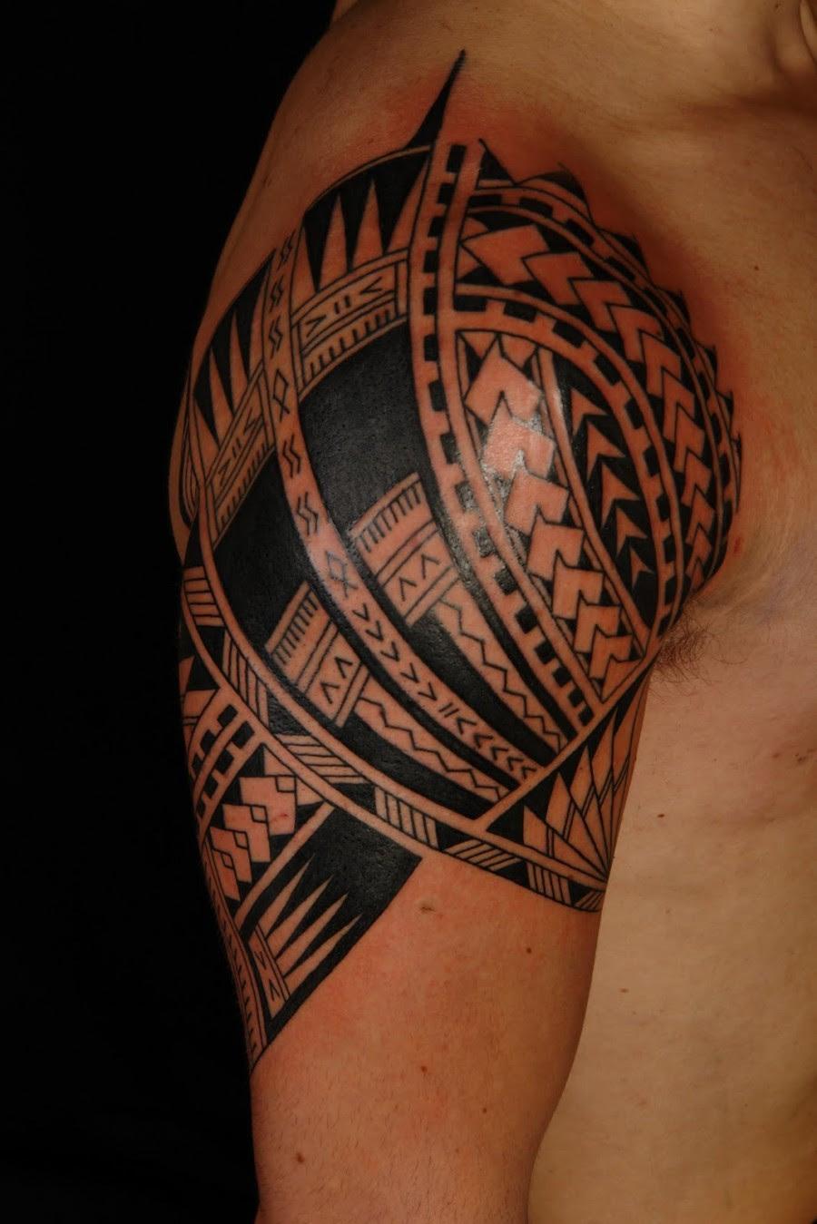 Awesome Samoan Sleeve Tatto On Upper Arm Tattoomagz