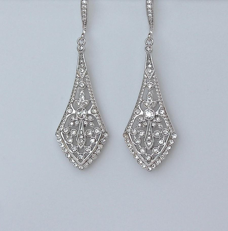Wedding Jewelry UK Bridal Earrings,Prom Earrings Statement Earrings Wedding Earrings Art Deco Earrings Diamante Drop Earrings