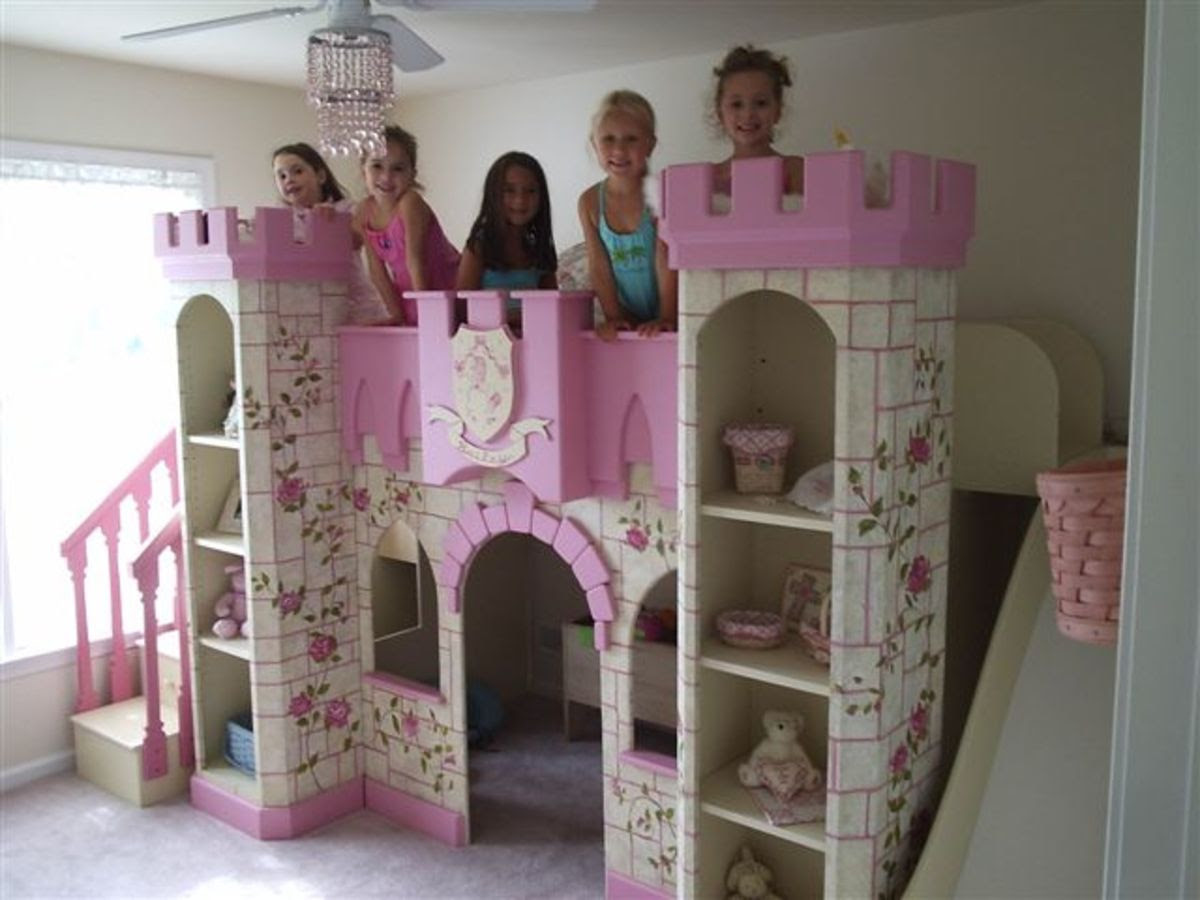 How to Create the Girls Princess Room of Her Dreams with a Castle Bed
