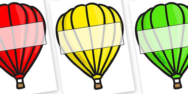 Editable A4 Hot Air Balloons (Plain) - Hot air balloon, balloon