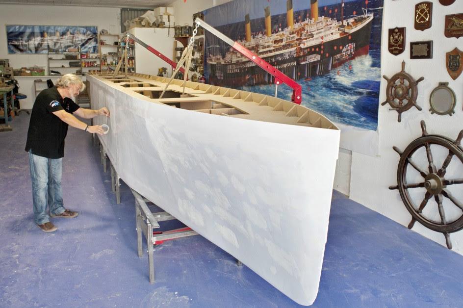 La maqueta del Titanic más grande del mundo se construye en Girona