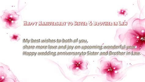 Happy Anniversary to Sister and Brother in law   Wishes4Lover