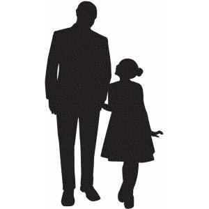Father And Daughter Silhouette At Getdrawingscom Free For