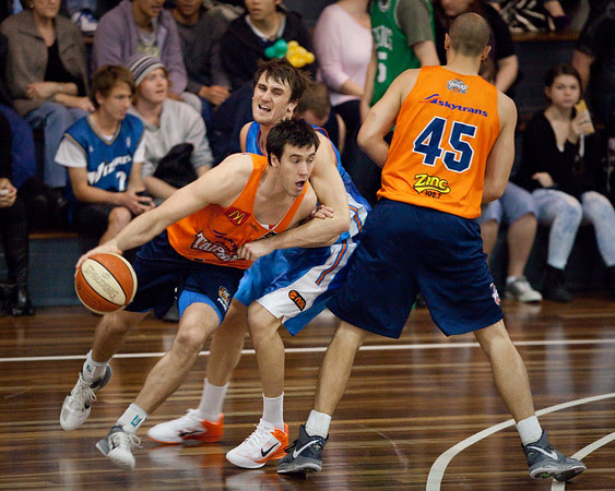 Brad Hill, Zac Carter, Dusty Rychart - Cairns Taipans v Gold Coast Blaze Pre-season  NBL Basketball, Auchenflower, Brisbane, Queensland, Australia; 3 September 2011. Photos by Des Thureson:  http://disci.smugmug.com.