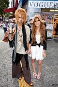 Stylish Shibuya Couple w/ Blonde Hair, Wide Leg Pants, Sundress & Espadrilles