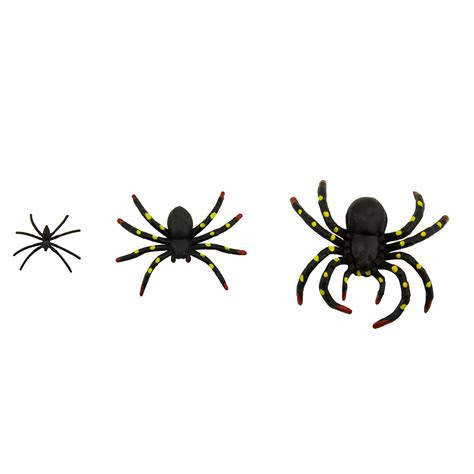 pcs plastic scary black spiders stretchable web