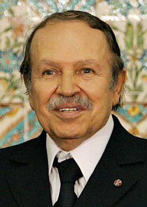 Abdelaziz Bouteflika, president of Algeria, in...