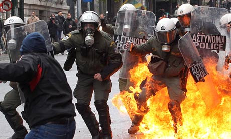 Protests in Athens February 2012