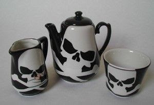 Skull and Crossbones Tea Set