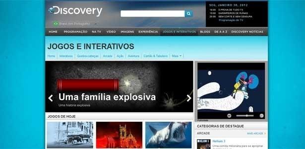 Site do Discovery Channel tem notícias, blogs, vídeos, fotos e jogos sobre os temas do canal