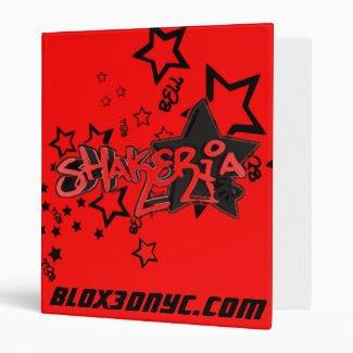 Blox3dnyc.com urban star design for Shakeria RB 3 Ring Binder