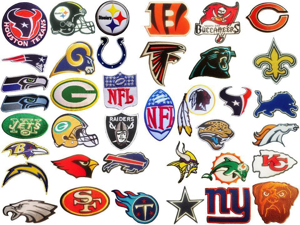New NFL, National Football league team logo patches. Embroidered iron on patch.  eBay