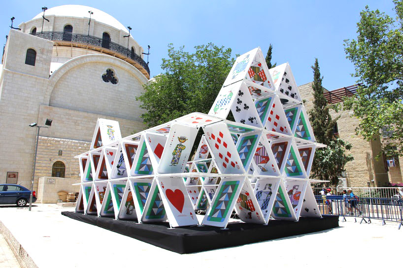 OGE creative group lights up jerusalem with house of cards