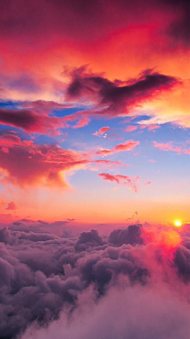 iphone sky wallpaper clouds sea sunset sunrise cloud ...