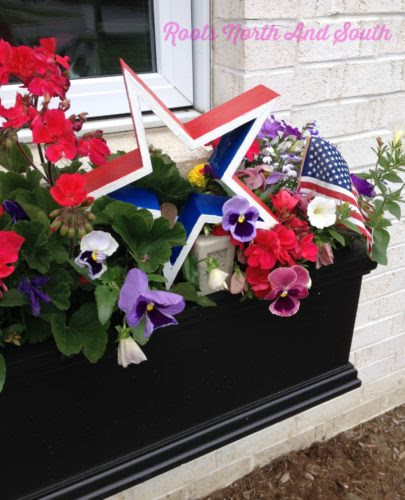 Patriotic window boxes