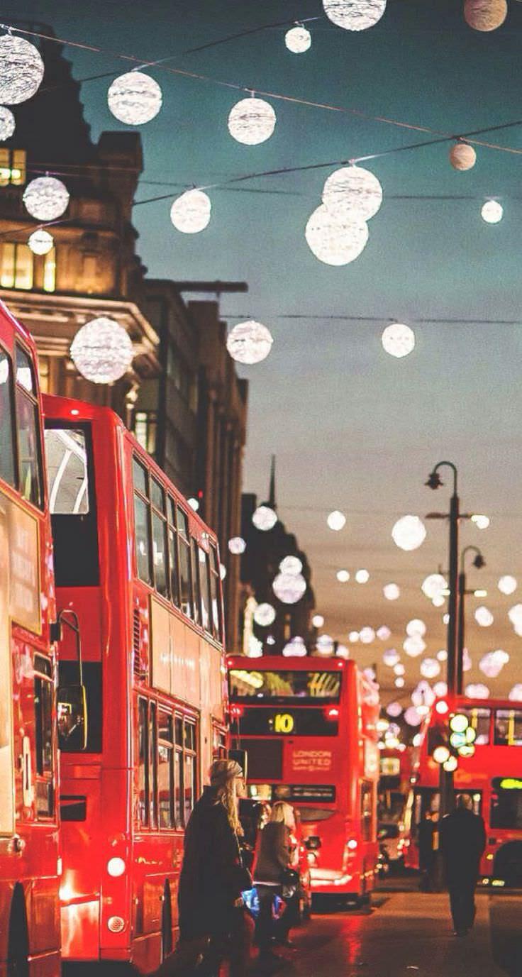 クリスマス おしゃれなクリスマスタウン めちゃ人気 Iphone壁紙dj