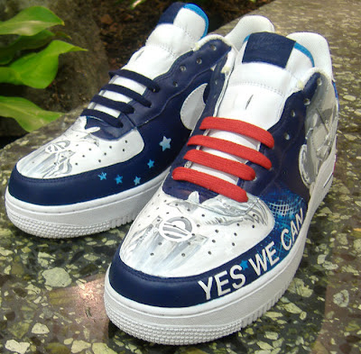 Yes We Can - Custom Obama Air Force One Sneakers