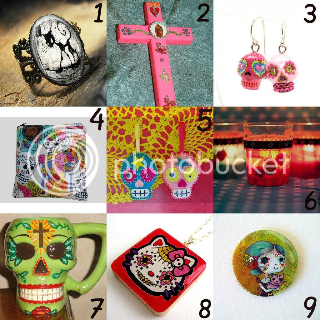 accessori, halloween, orecchini, anello, gotico, horror, dia de los muertos