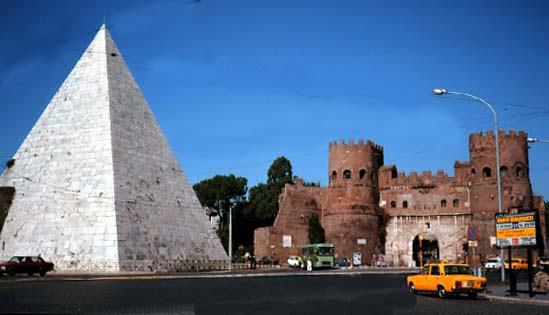 Monument of Cestius and Porta Ostiense