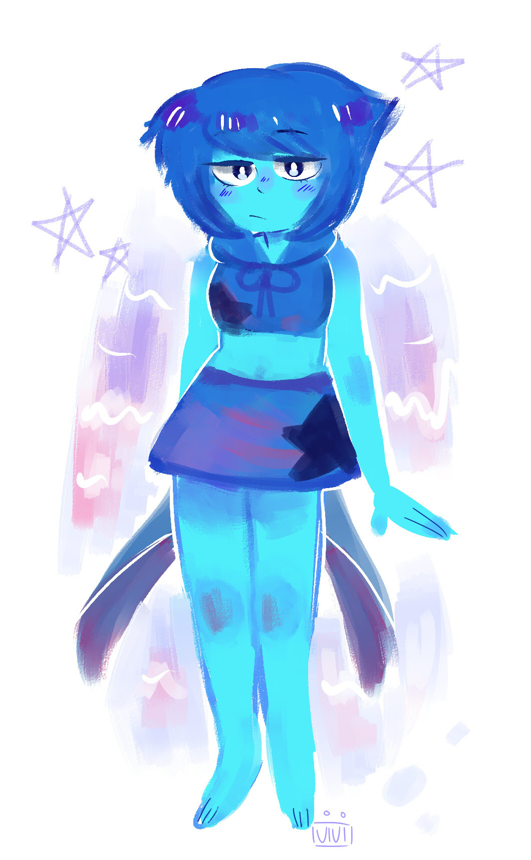 i tried to draw a Crystal Gem™ lapis
