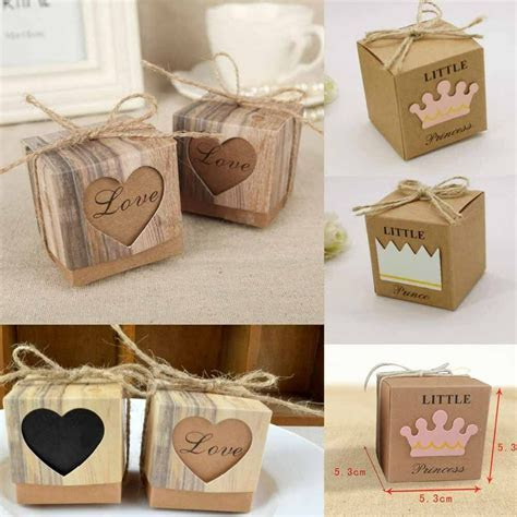 50pcs Wedding Favour Sweet Cake Candy Boxes Paper Bags