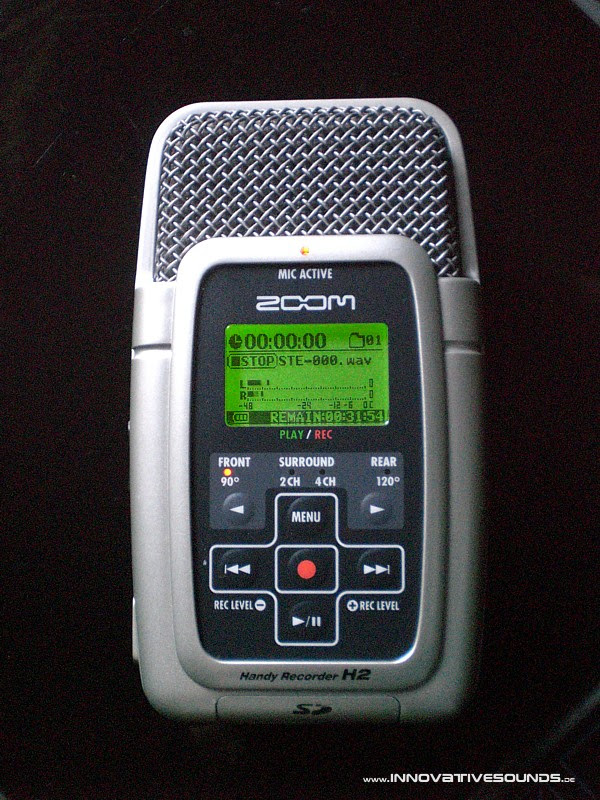 Zoom H2, first test