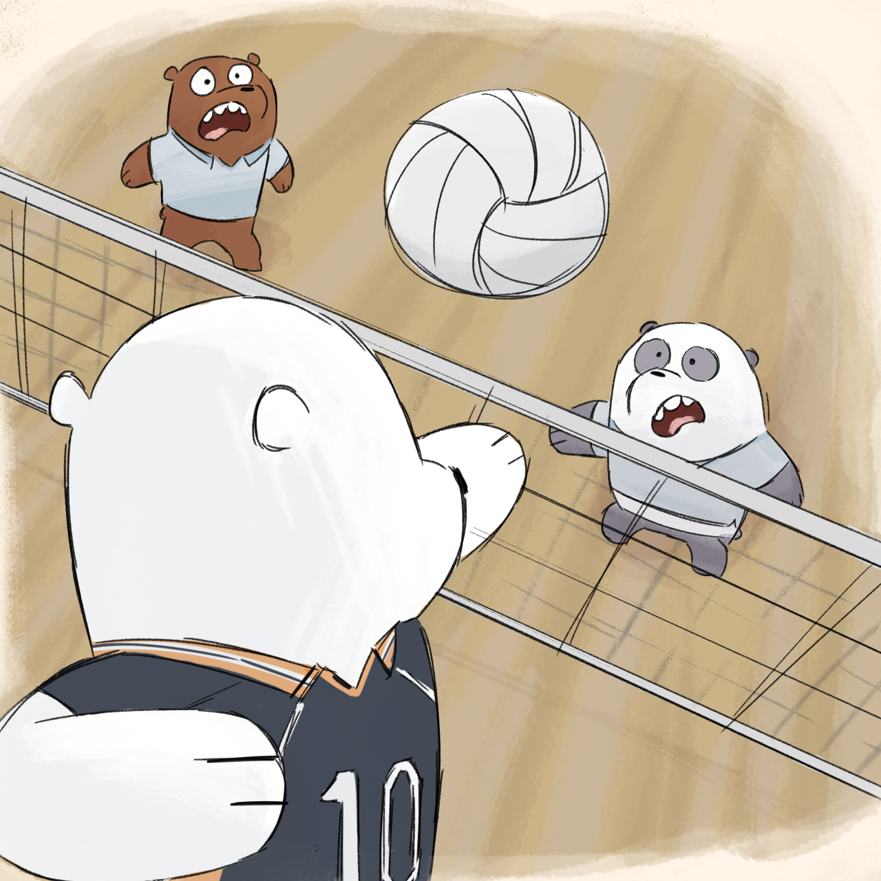 The Weeb Bare Bears take up Volleyball