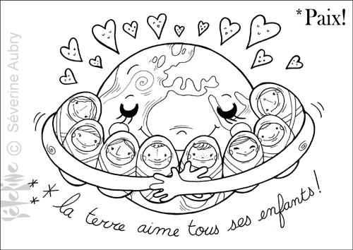 Peace And Love Severine Aubry I L L U S T R A T R I C E