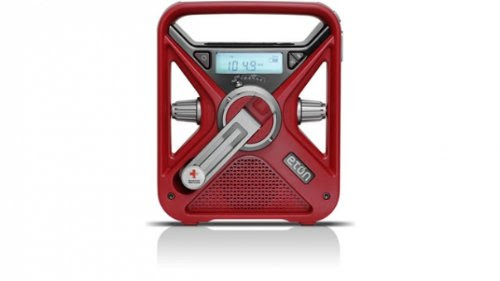 American Red Cross FRX3 Hand Turbine NOAA AM/FM Weather Alert Radio with Smartphone Charger - Red (ARCFRX3WXR)