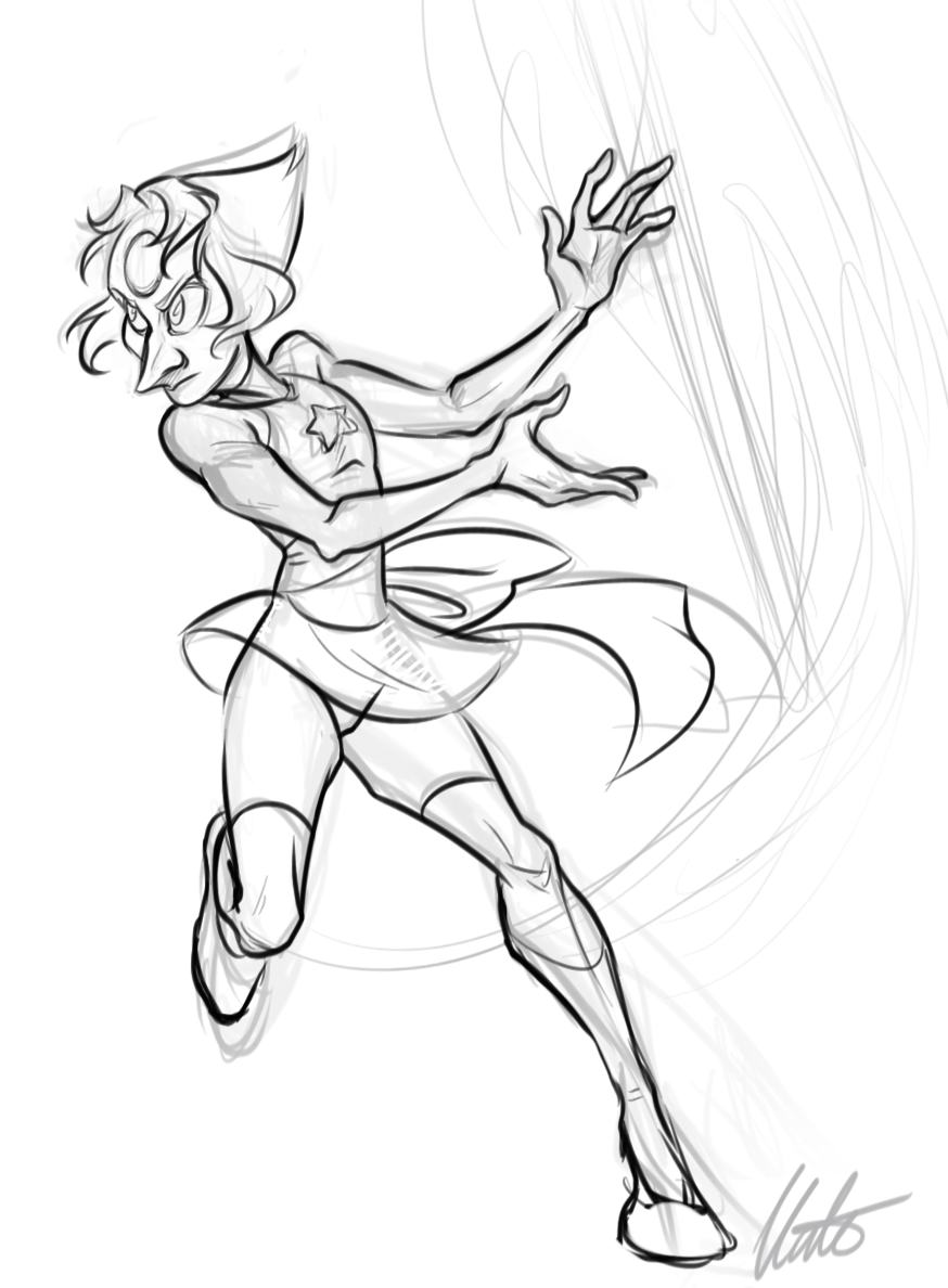 Pearl - warm up sketch