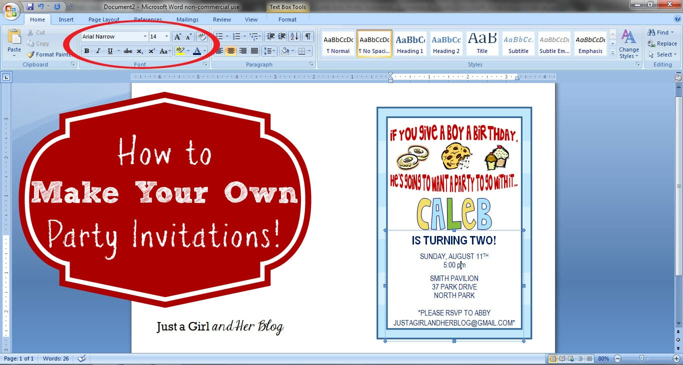 Make Your Own Birthday Invitations Free Template - Resume ...