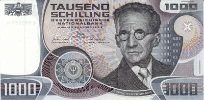 Schrodinger 1000 Austrian Schilling