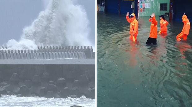 Image result for Typhoon injures more than 80 people in Taiwan as another storm approaches