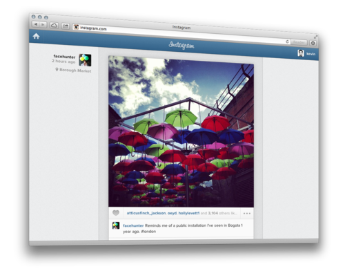 Feed do Instagram - imagem retirada do site instagram.com