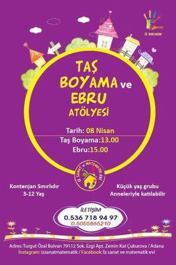 Taş Boyama Atölyesi Adanada çocuk Olmak