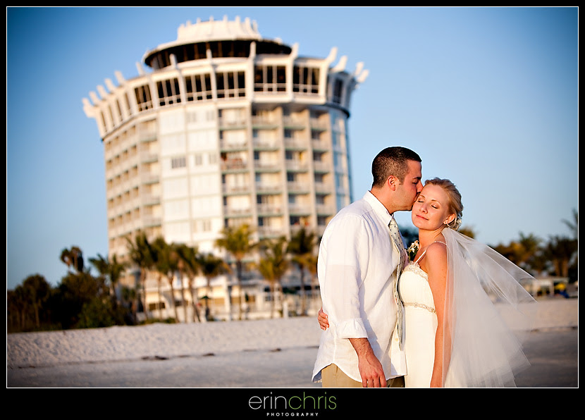Wedding photos on the beach at the Grand Plaza