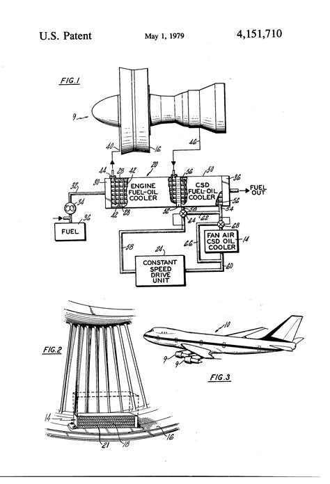 Patent US4151710 - Lubrication cooling system for aircraft