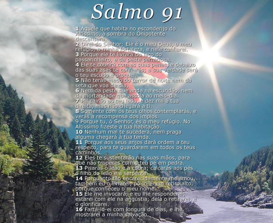Resultado de imagem para salmo 91 para imprimir com moldura