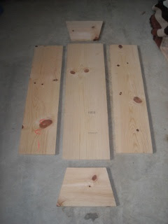 Homemade Top Bar Bee Hive Side and Bottom Pieces