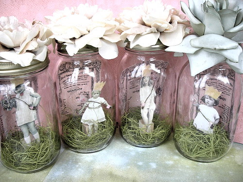Wedding Jar Fairies! Shabby Chic Version!