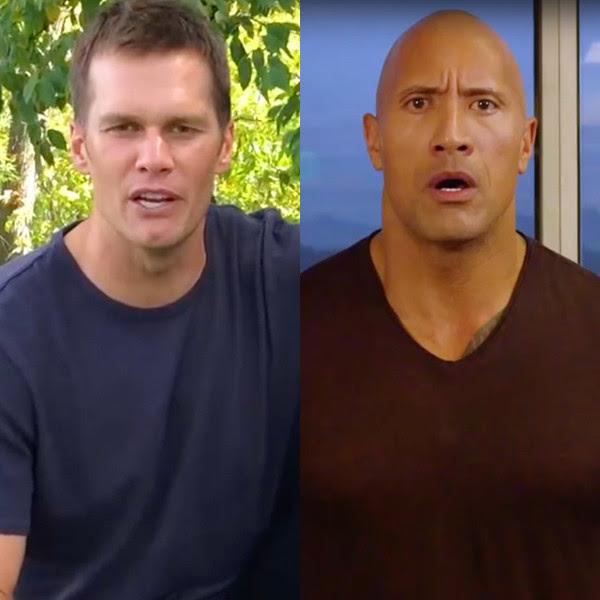 e6d1e3d000 Dwayne The Rock Johnson Is Very Unimpressed by Tom Brady's Impression of Him