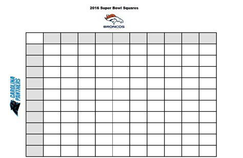 Free Printable :: 2016 Superbowl Betting Squares   Stylish