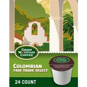 Colombian Fair Trade Select Keurig Kcup Coffee