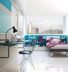 Turquoise Furniture Accent for Beautiful Teens Bedroom Interior ...