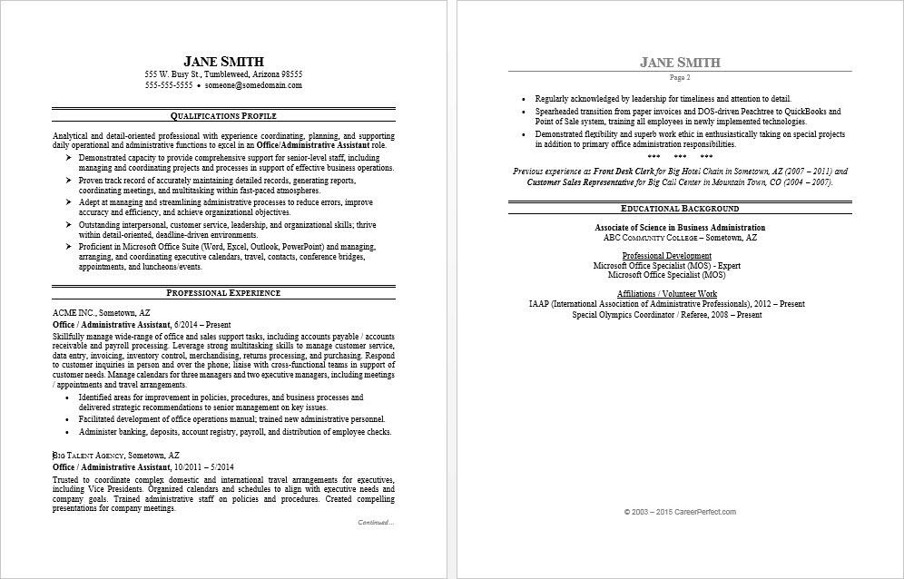 office assistant resume sample