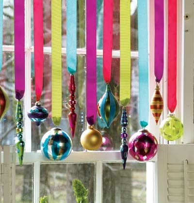 Ornaments Hanging in Windows